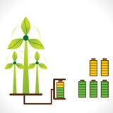 Renewable energy generate by wind mill concept Stock Image