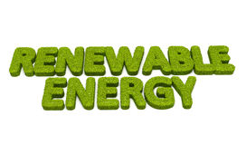 Renewable energy grass illustration Stock Photo