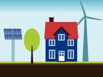 Renewable energy home Royalty Free Stock Photo