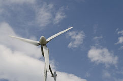 Renewable energy for home use. Wind turbine, renewable energy for home use Royalty Free Stock Image