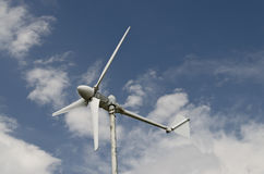 Renewable energy for home use. Wind turbine, renewable energy for home use Stock Photography