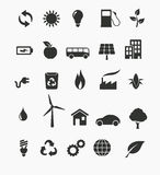 Renewable energy icon set. Vector illustration of renewable energy icon set Royalty Free Stock Images