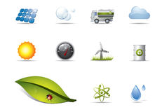 Renewable energy icons Stock Photos