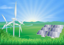 Renewable energy illustration Royalty Free Stock Image