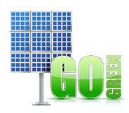 Renewable energy image solar panels- Stock Photography