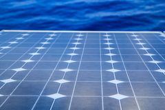 Renewable energy industry detai. L with photovoltaic panel stock image