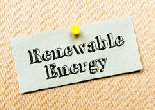 Renewable Energy Message Royalty Free Stock Photography