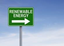 Renewable Energy. A modified one way sign indicating Renewable Energy Royalty Free Stock Photo