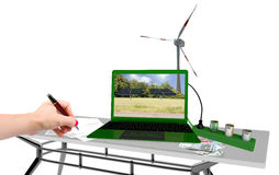 Renewable energy office Stock Images