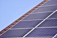 Renewable energy photovoltaic roof Stock Photo