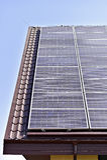 Renewable energy photovoltaic roof Royalty Free Stock Photo