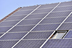 Renewable energy photovoltaic roof Royalty Free Stock Photography