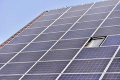 Renewable energy photovoltaic roof Stock Image