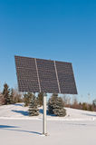 Renewable Energy - Photovoltaic Solar Panel Array. Photovoltaic solar panel array in a park in winter Royalty Free Stock Photos