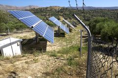 Renewable energy production on Crete Stock Photo