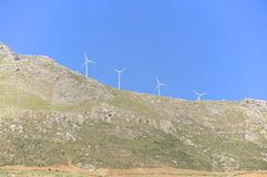 Renewable energy production on Crete. Royalty Free Stock Photography