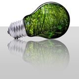 Renewable energy for protect planet Stock Image
