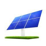 Renewable Energy - Renewable Energy - Solar Panels. Isolated solar panels on a green grass Royalty Free Stock Image