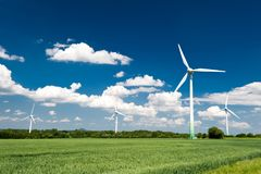 Renewable Energy. Windmills in Germany Royalty Free Stock Images