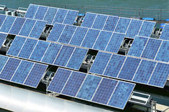Renewable Energy Solar cells Royalty Free Stock Images