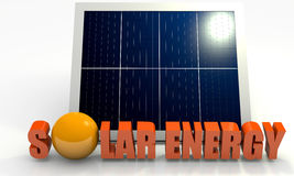 Renewable energy, solar panel Royalty Free Stock Photos