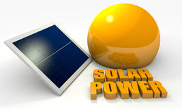 Renewable energy, solar panel Stock Photography