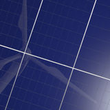 Renewable energy, solar panel and wind turbine Stock Photo