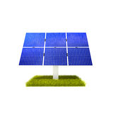 Renewable Energy - Solar Panels. On a grass plane isolated on white background Stock Image