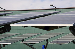 Renewable energy: solar panels Stock Photography