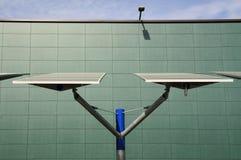 Renewable energy: solar panels Stock Images