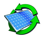 Renewable energy solar panels Royalty Free Stock Photo