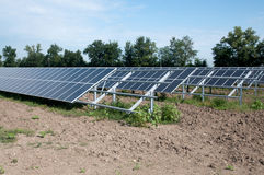 Renewable energy: solar panels. Of a highway Italian. A solar panel (photovoltaic module or photovoltaic panel) is a packaged interconnected assembly of solar Stock Photos