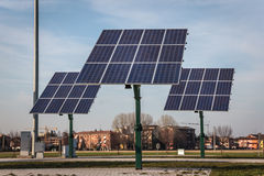 Renewable energy - solar panels Stock Photos
