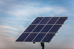 Renewable energy - solar panels Stock Images