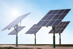 Renewable energy - solar panels Royalty Free Stock Photo