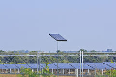 Renewable energy with solar panels.  Stock Photo