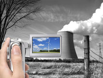 Renewable energy source in focus Stock Image