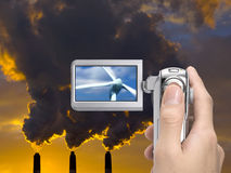 Renewable energy source in focus Royalty Free Stock Photography