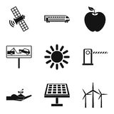 Renewable energy source icons set, simple style royalty free illustration