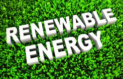 Renewable Energy. And Sources as a Concept in 3D royalty free illustration