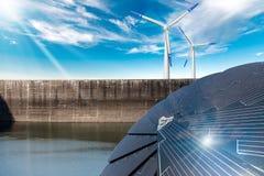 Free Renewable Energy - Sunlight Wind Rain Royalty Free Stock Photography - 164254507