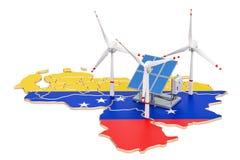 Renewable energy and sustainable development in Venezuela, conce Stock Image