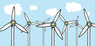 Renewable energy / Turbine ecology field Stock Image