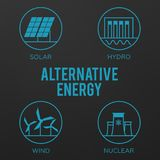 Renewable energy vector illustration. Renewable energy concept i Stock Photos