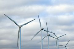 Renewable energy. Who knows will be saving the planet Stock Photo