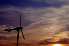 Renewable energy from the wind. Royalty Free Stock Images