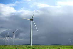 Renewable Energy Wind Turbine on Agriculture Field royalty free stock photo