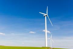 Renewable energy by wind turbine Royalty Free Stock Image