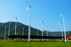 Renewable energy. Wind turbine a part of renewable energy stock images