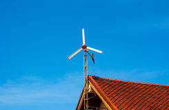 Renewable energy wind turbines. Changing wind power into electricity Stock Images